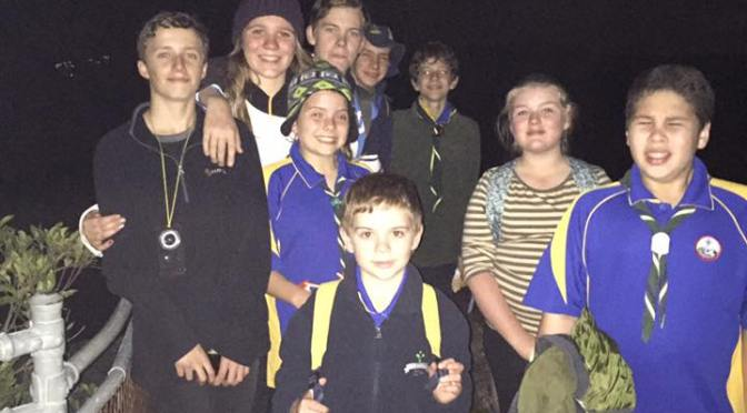 Scouts Night Hike