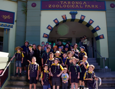 Cubs and Scouts Outside Taronga Zoo