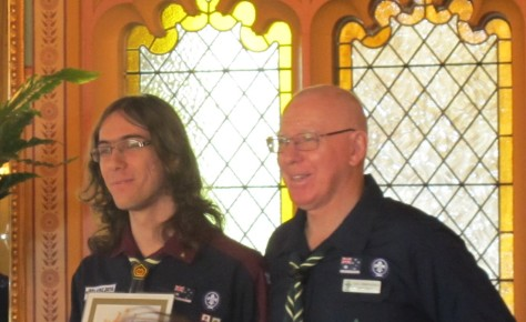 Luke at Government House Queen's Scout Award